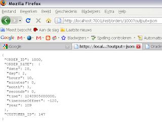 Java / Oracle SOA blog: OSB Rest service with xml, json output
