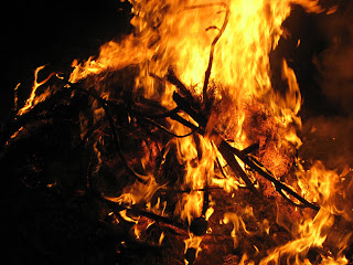 nice time around the bonfire