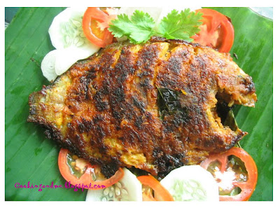 Karimeen Pollichathu / Pearl Spot Fish Wrapped in Banana Leaves