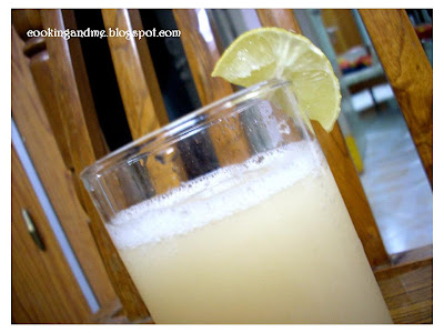 Litchi Lemon Cooler - A Welcome Drink Idea