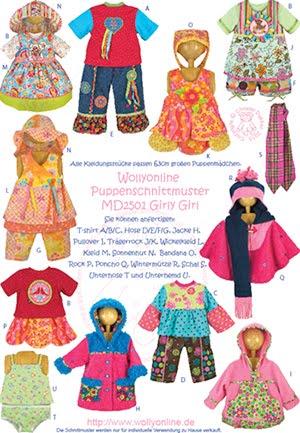Puppenschnittmuster für 63cm große Puppenmädchen - Wollyonline Blog