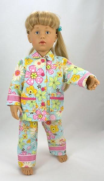 Pyjama Patronen/Schnittmuster voor Gotz/Goetz Sarah & Hannah Poppen ...