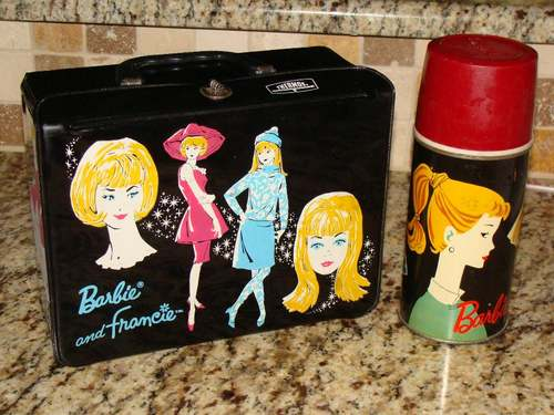 iCafe Woman Moderne School Lunch Boxes 1960s Before