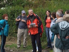 A group on the Donabate heritage trail...