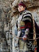 "Photo of the main hero from a korean tele-series novel entitled ""Jumong"""