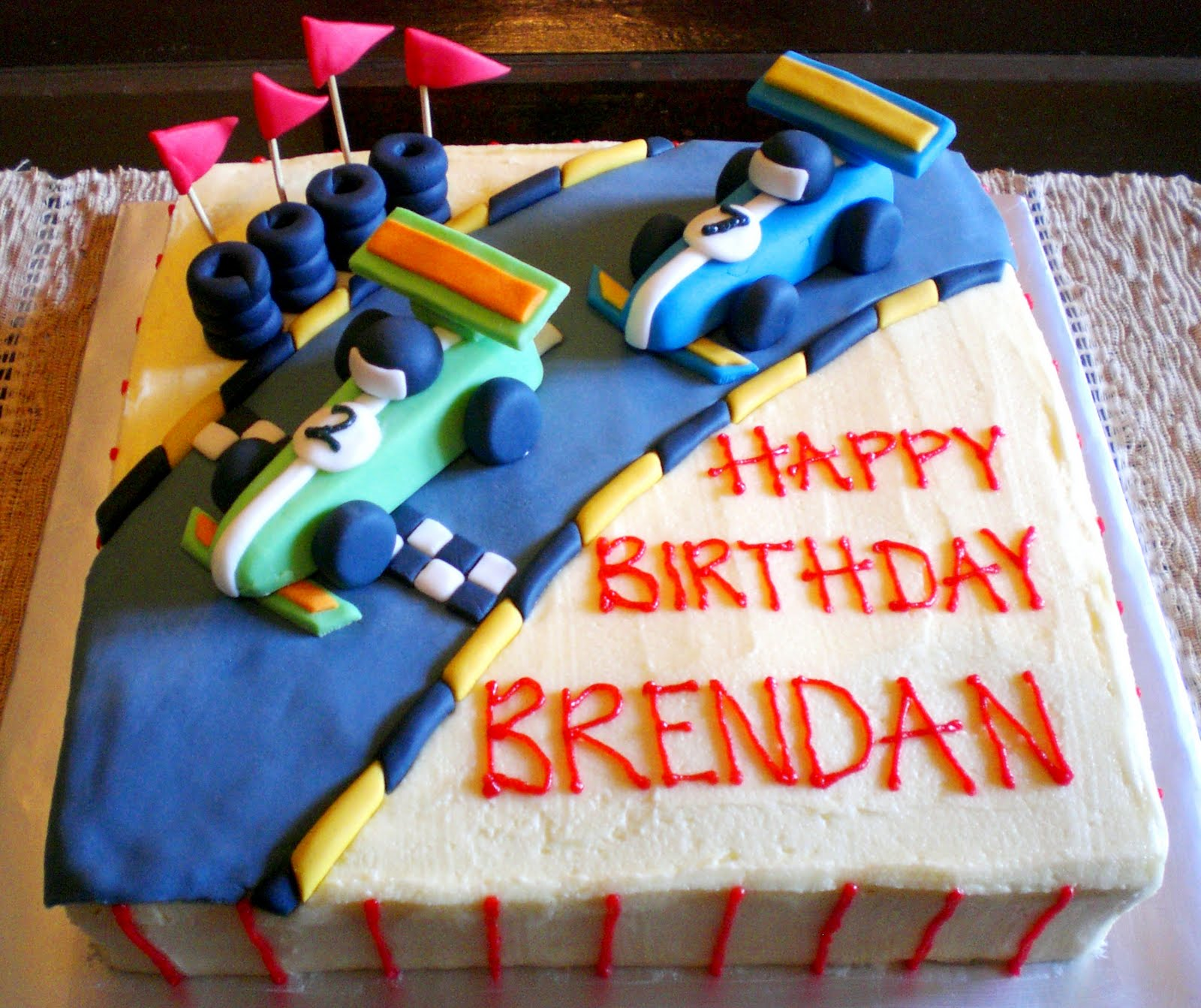 Sugar Rush Racing Car Birthday Cake