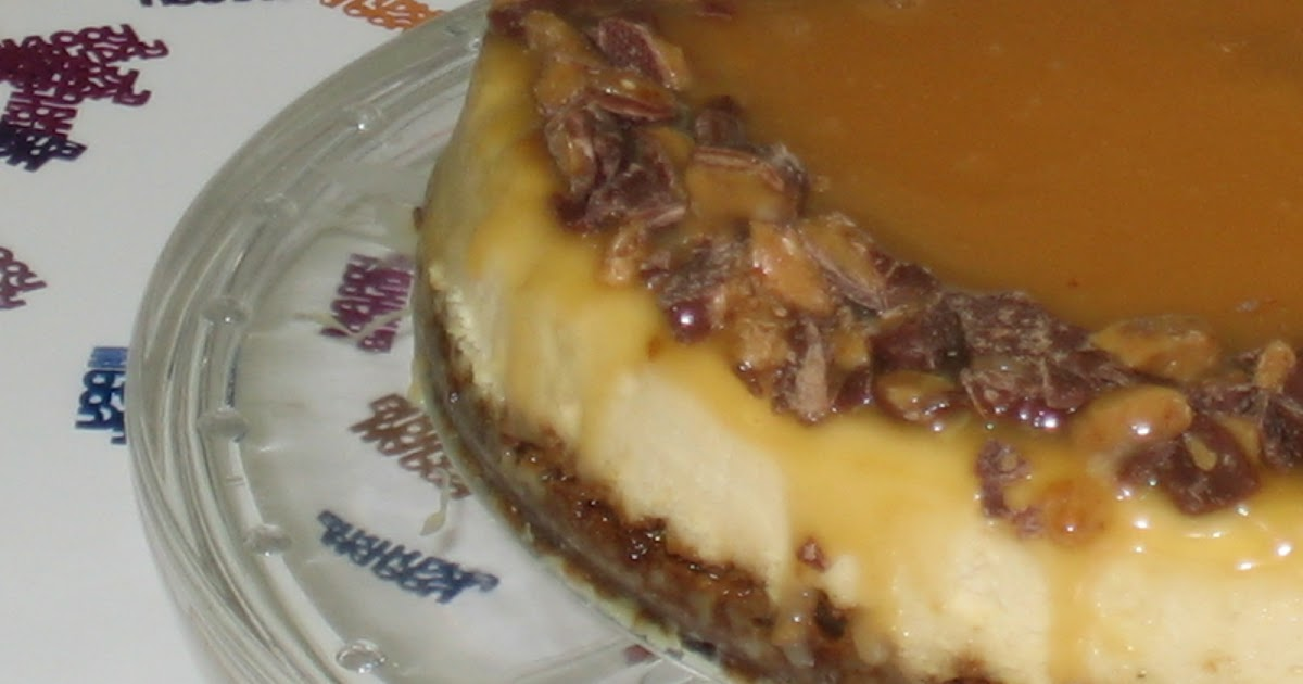 Cooking in Cathedral Hill: Toffee Crunch Caramel Cheesecake