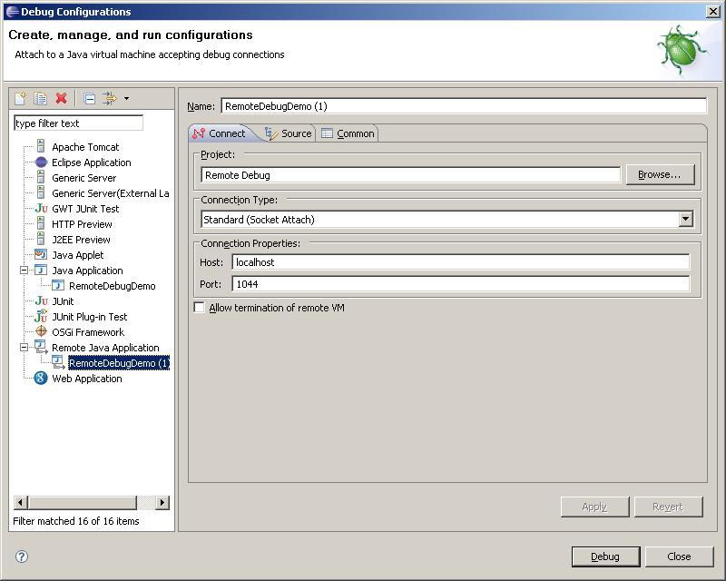 Say Java: Remotly debug java programs using Eclipse