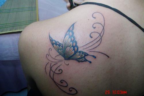bb093dda9 Free art butterfly fairy tattoo designs girls | butterfly tattoo designs