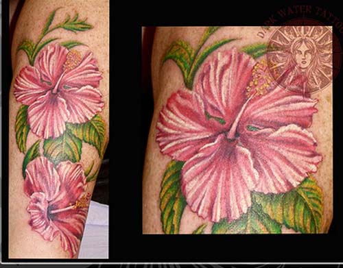 Rank Tattoo Kile Red Foot Hibiscus Flower Tattoos For Women Collections