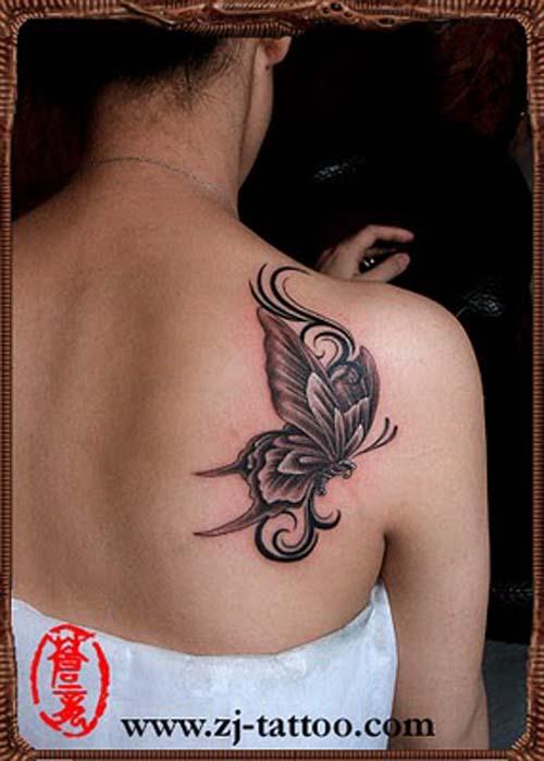 black erfly tattoo designs for women