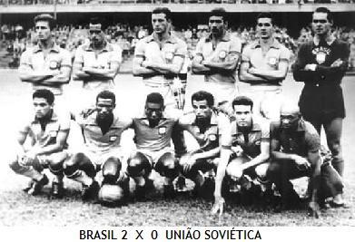 Resultado de imagem para brasil 2x0 urss 1958