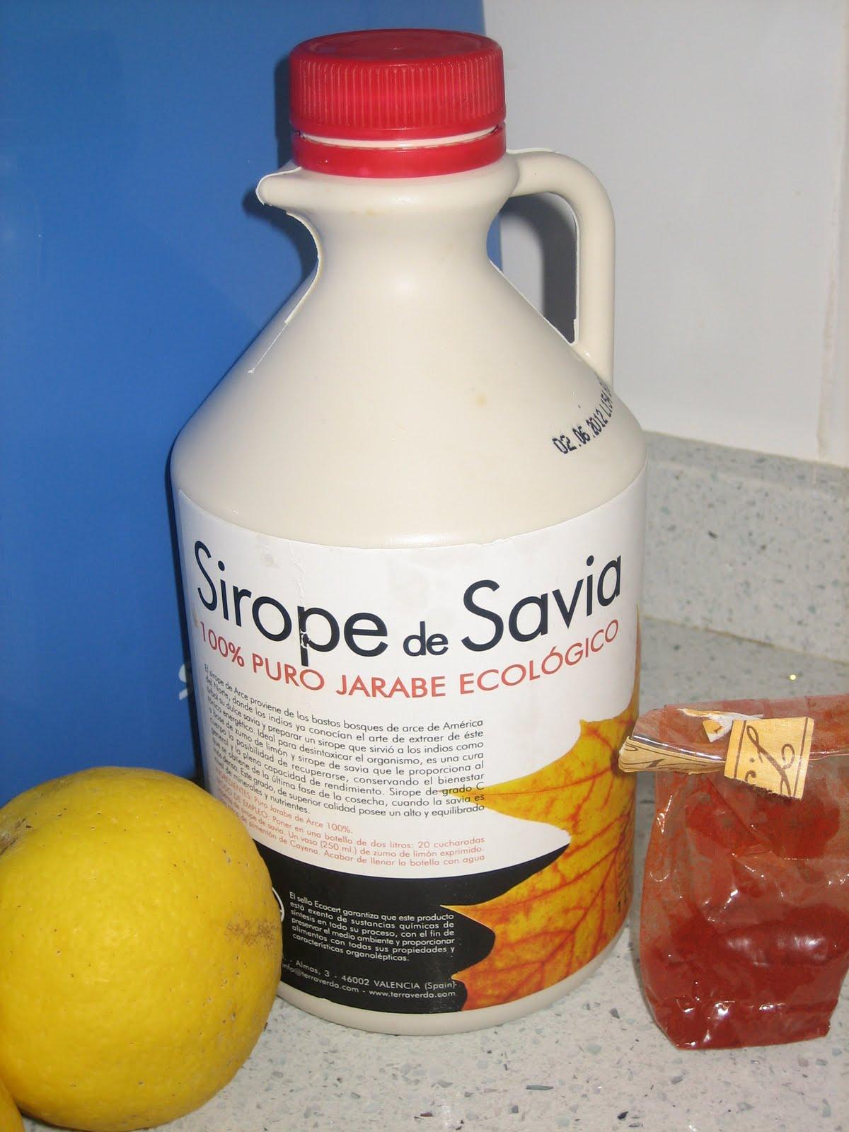 dieta de sirope vitalidad y limon