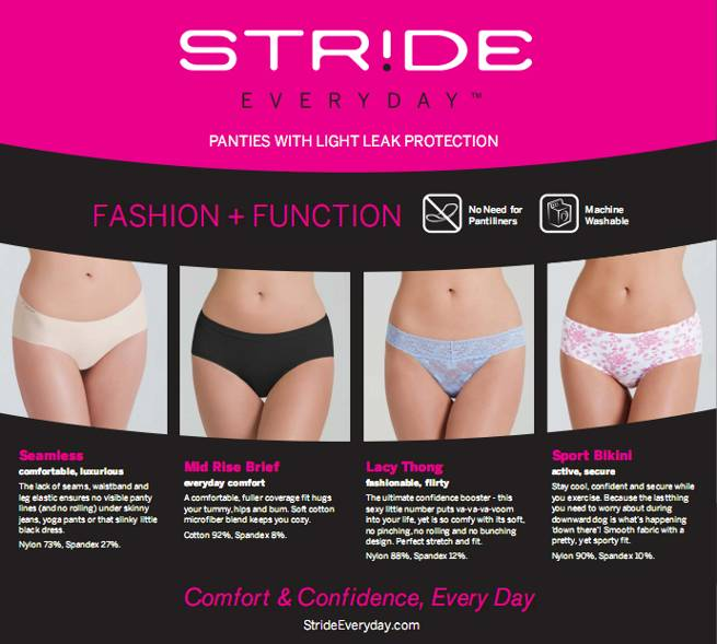 Stride Everyday Panty ad