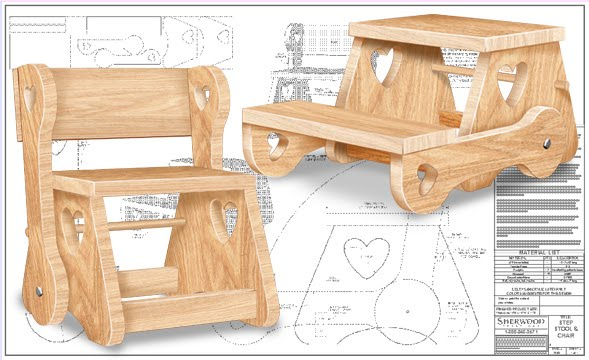 Sherwood Creations Child S Chair Step Stool Pattern