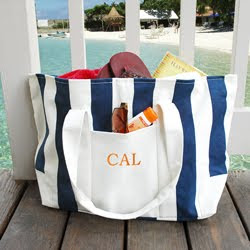 64829bf26 Having a beach wedding or weekend girls trip  The Striped Canvas Bag is  perfect! Reminds me of a weekend at the beach