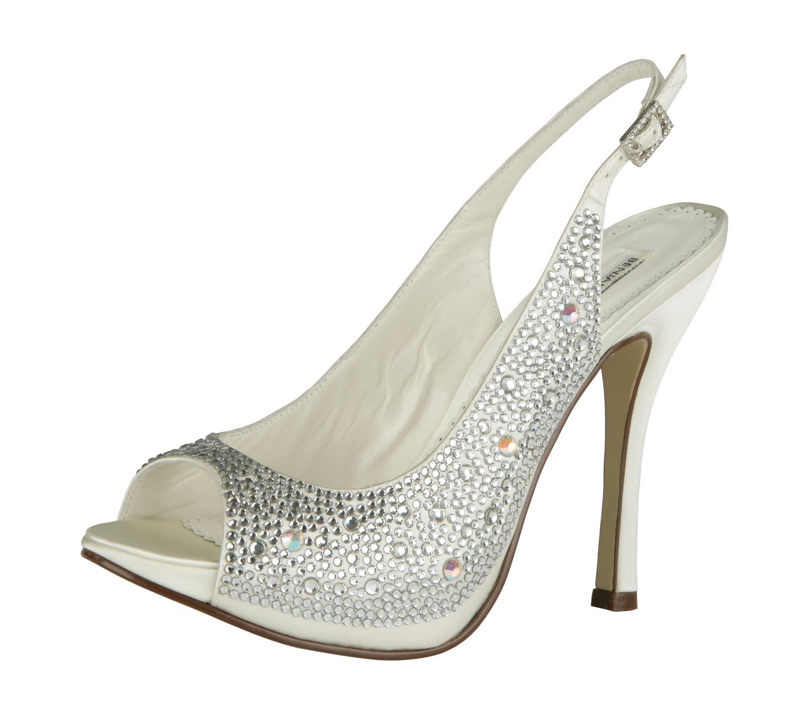 White Slingback Wedding Shoes
