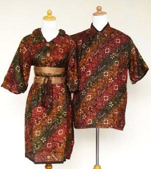 Baju Batik Line Baju Gamis Muslimah Sarimbit Batik Modern