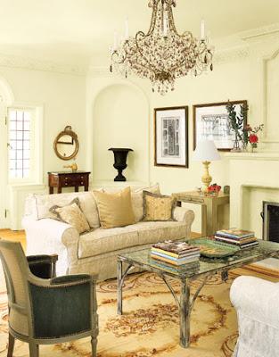 chandelier, living room