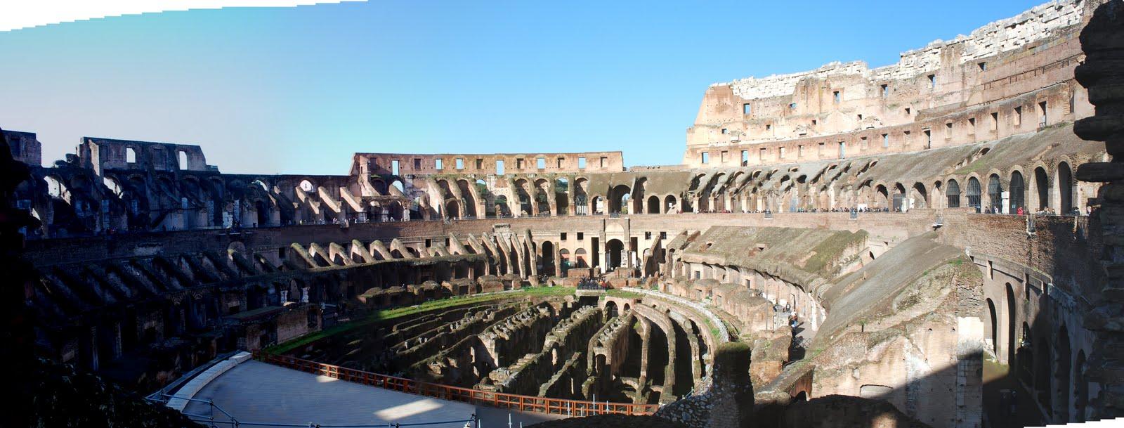 zerstörung kolosseum rom