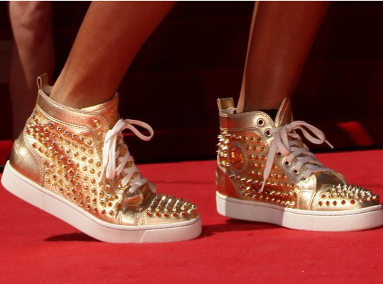 wholesale dealer 7aa4e 98fbe Passion 4 Fashion: Christian Louboutin Gold Metallic Studded ...