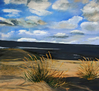 Lake Michigan Beach By Ginny Morse Acrylic 20x24 Custom Framing Available 350 00 Canvas Only Free Shipping In Usa