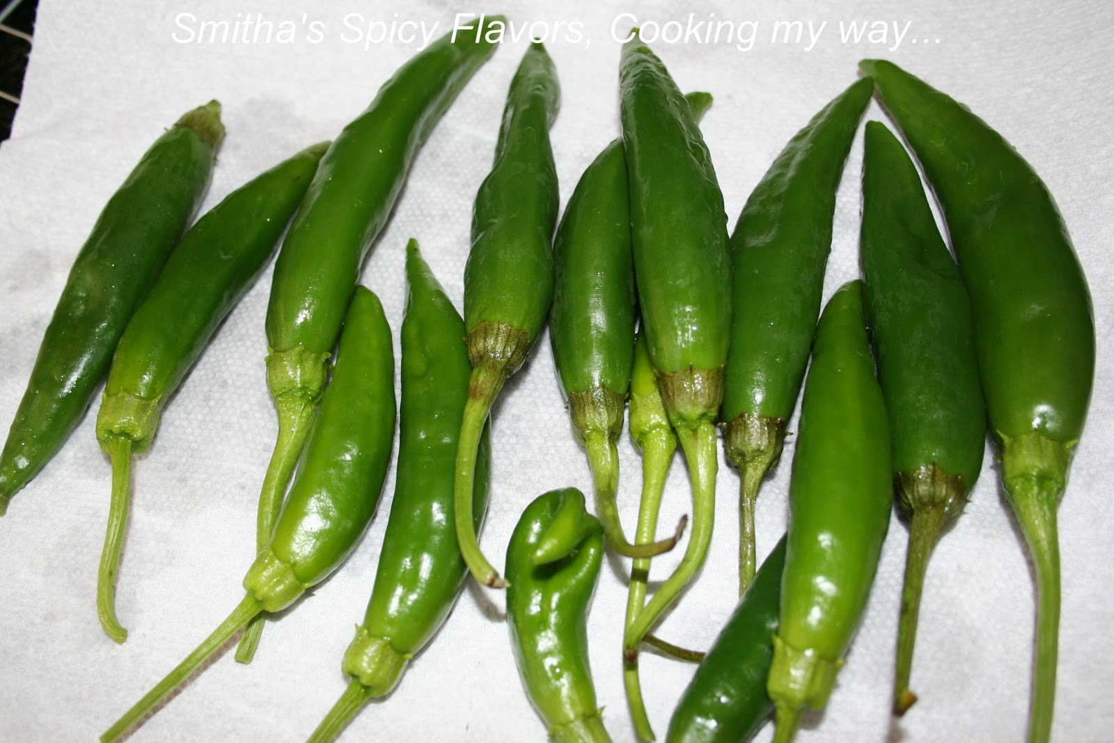 Spicy Green pepper / chilly stir fry....yet not spicy ...
