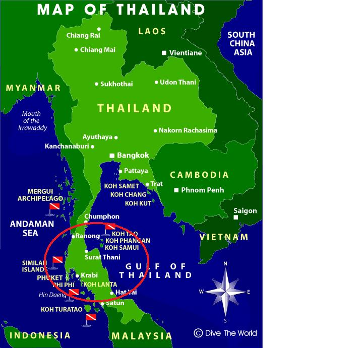 Map Of Southern Thailand Islands