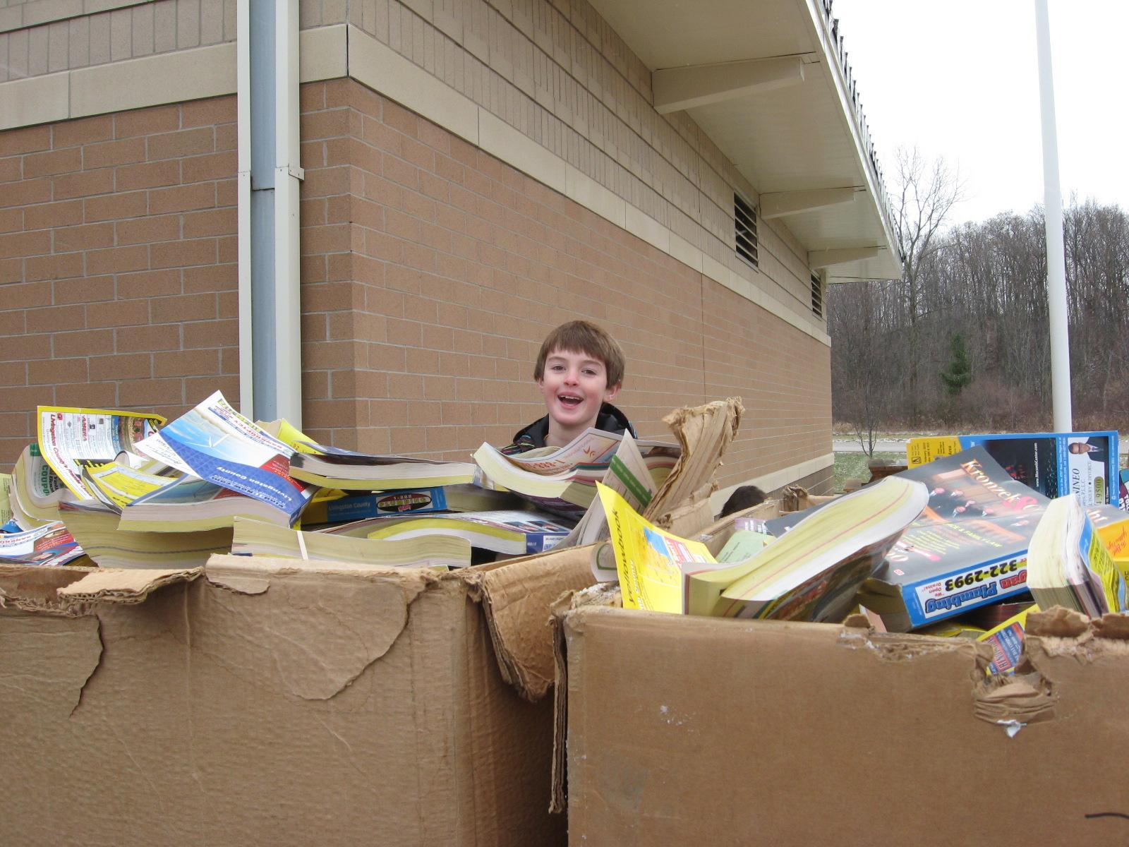 Hutchings Green Club: Phone Book Recycling Pics