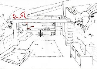 cmesgouts esquisse chambre d 39 ados. Black Bedroom Furniture Sets. Home Design Ideas