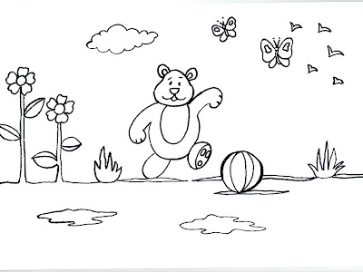 Dibujos para imprimir y colorear de osos 圖片, 上色