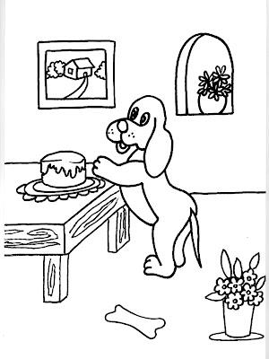 Dibujo gratis para imprimir y colorear de perros 圖片, 上色: Dibujo ...