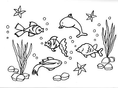 Dibujos gratis para imprimir y colorear de peces 圖片, 上色