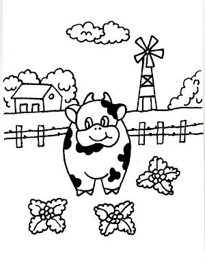 Dibujos Para Imprimir Y Colorear De Vacas 2 圖片 上色