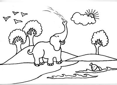 Dibujos Gratis Para Imprimir Y Colorear De Elefantes 圖片