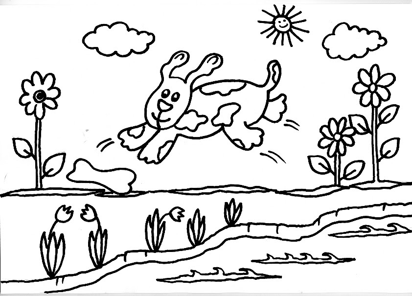Dibujos Para Imprimir Y Colorear De Perros: Dibujo Gratis Para Imprimir Y Colorear De Perros 圖片, 上色