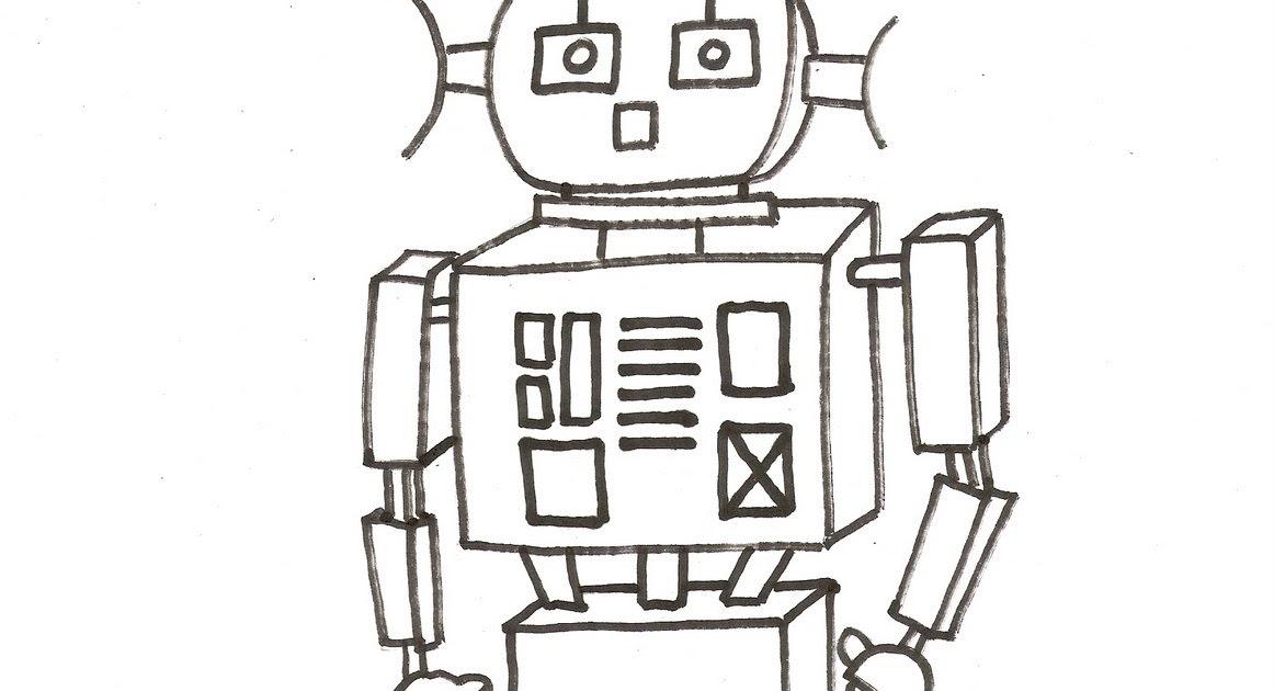 diujos de robots 2  u5716 u7247   u4e0a u8272  dibujo para colorear de un