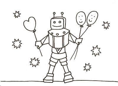 Dibujos gratis para imprimir y colorear de robots