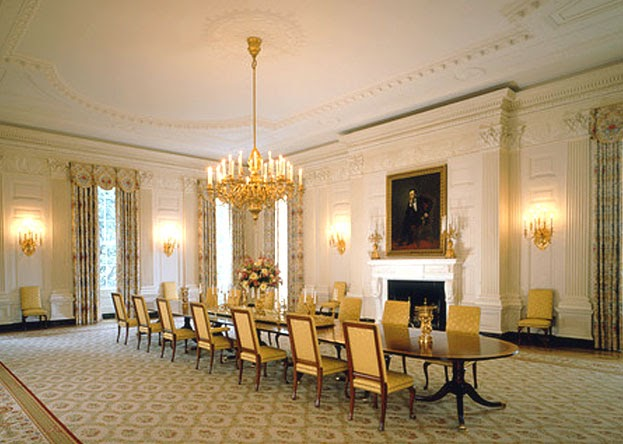white house dining room | Formal Dining Room Decoration Ideas