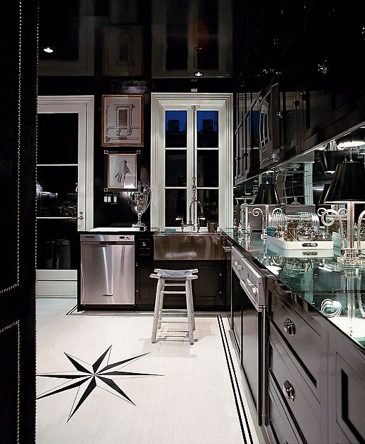 modern black and white kitchen interior fabulous design | Home Interior Design: Luxury Black and White Kitchen ...