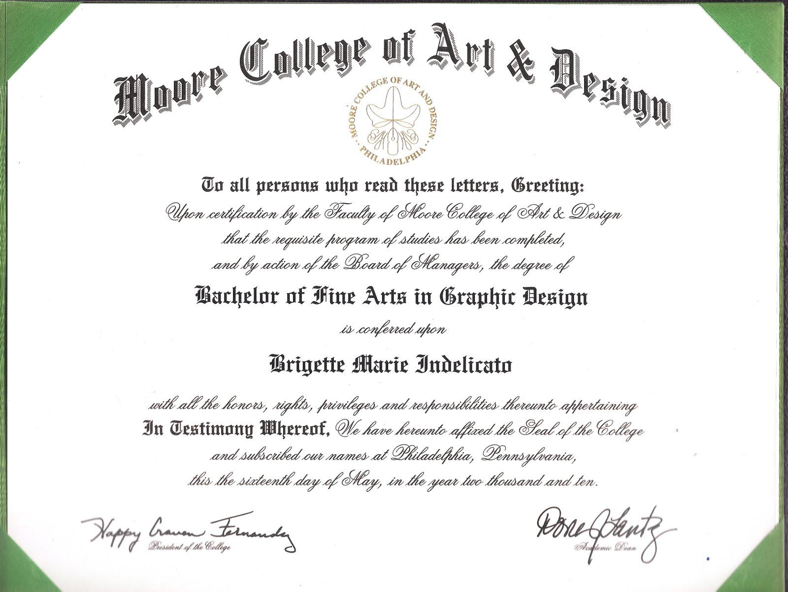 Certificate For Graphic Designer