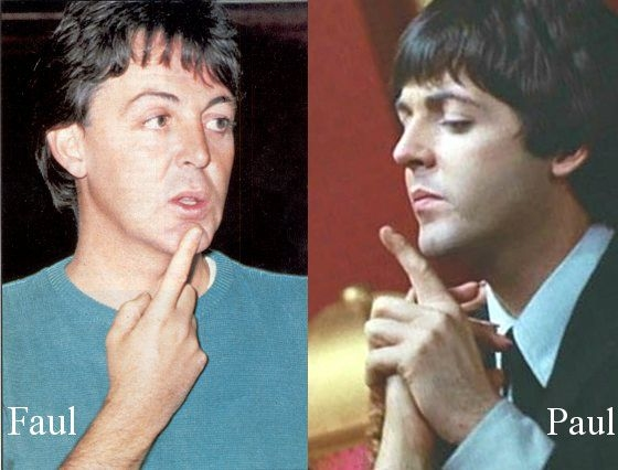 Much Of The Faul Theory Hinges On Photo Analysis McCartney Pre And Post 1966 Photos Are Placed Side By Lines Drawn From One Feature To