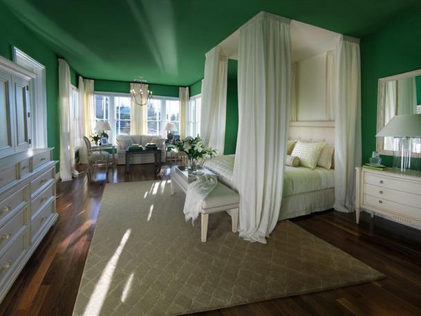 Colores para Decorar Con que colores combina pared verde en dormitorios