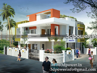 """3d exterior modeling rendering India"""