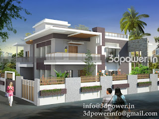 """simple exterior elevation of bungalow"""