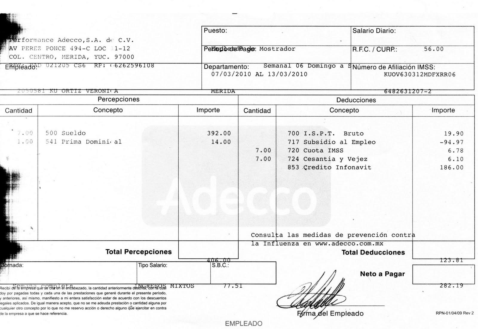 Documentacion for Ejemplo nomina trabajador