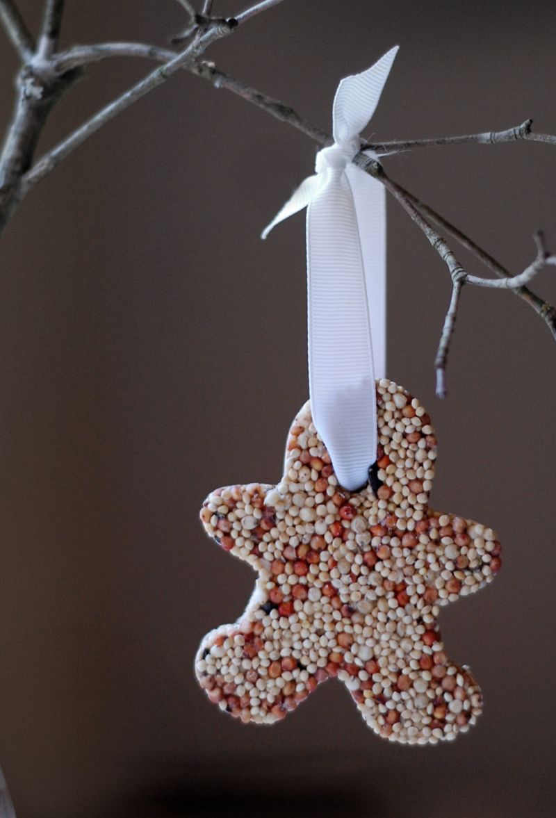 Thrifty gifts:: bird seed ornaments (for outdoor use)