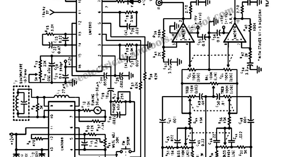 Free Schematic Diagram: Low Cost IC Stereo Receiver Circuit