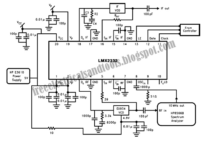 only wiring and diagram: Noise Floor Measurement Circuit