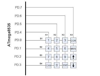 Keypad Matrix Schematic LED Matrix Schematic Wiring